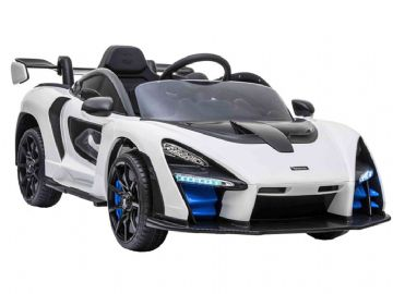 McLaren Senna White Licenced 12v Electric Ride on Super Car with Parental Control